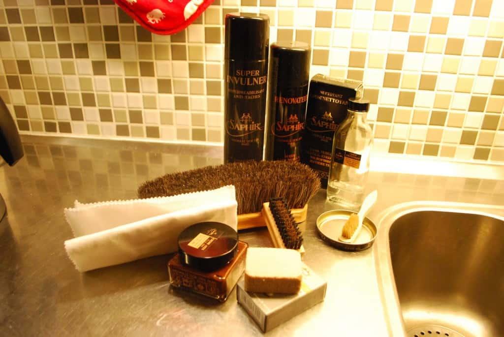 Samtliga produkter som används för nedanstående procedur.