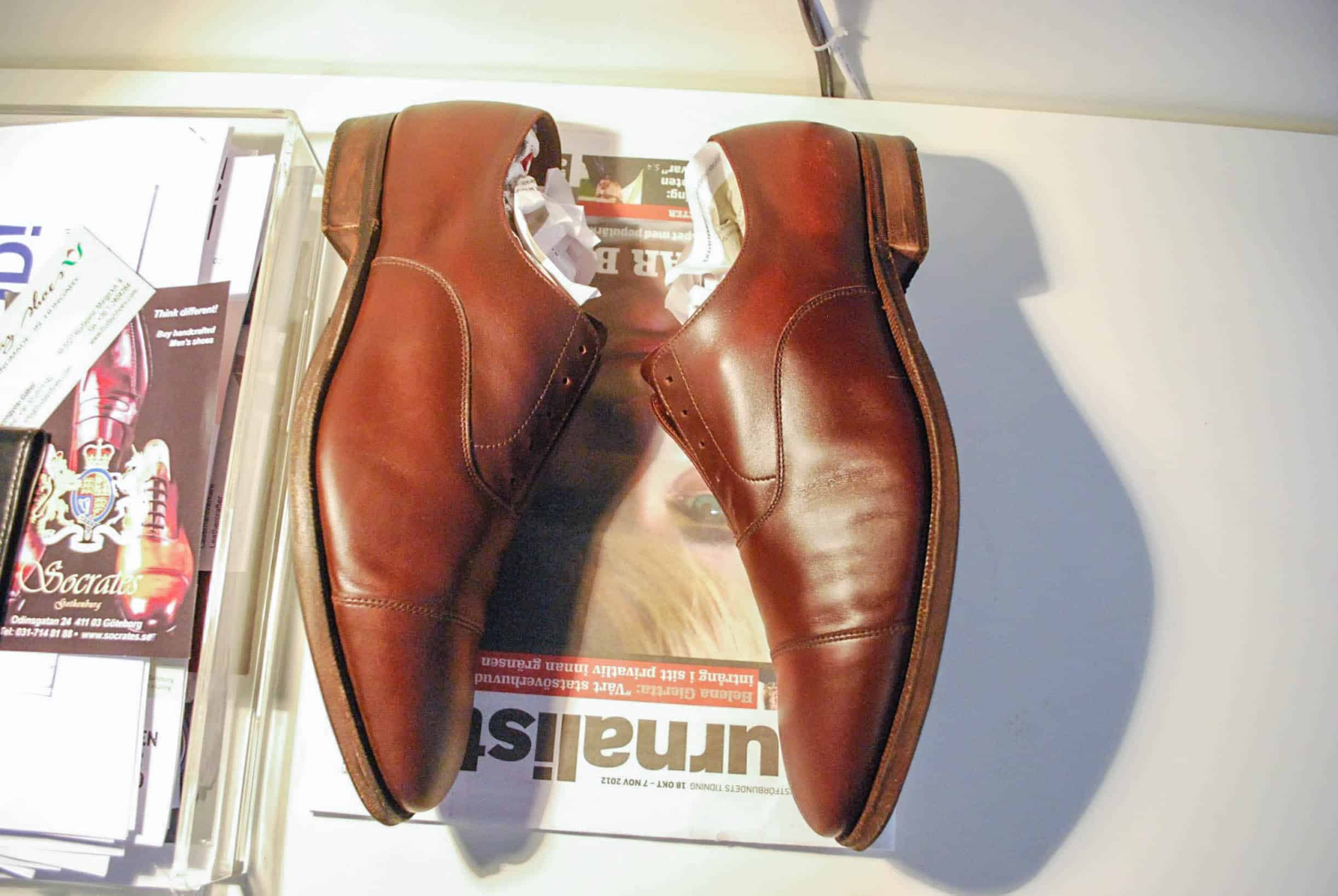 färga skor med skokräm