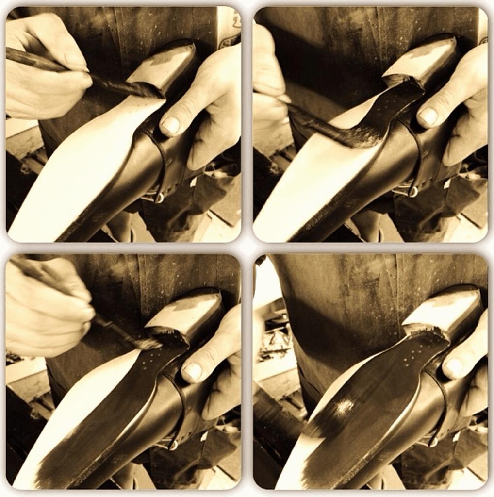 Andrés Sendras finaste skor har träpeggade, välvda midjor och ritsnedlagda sulor.