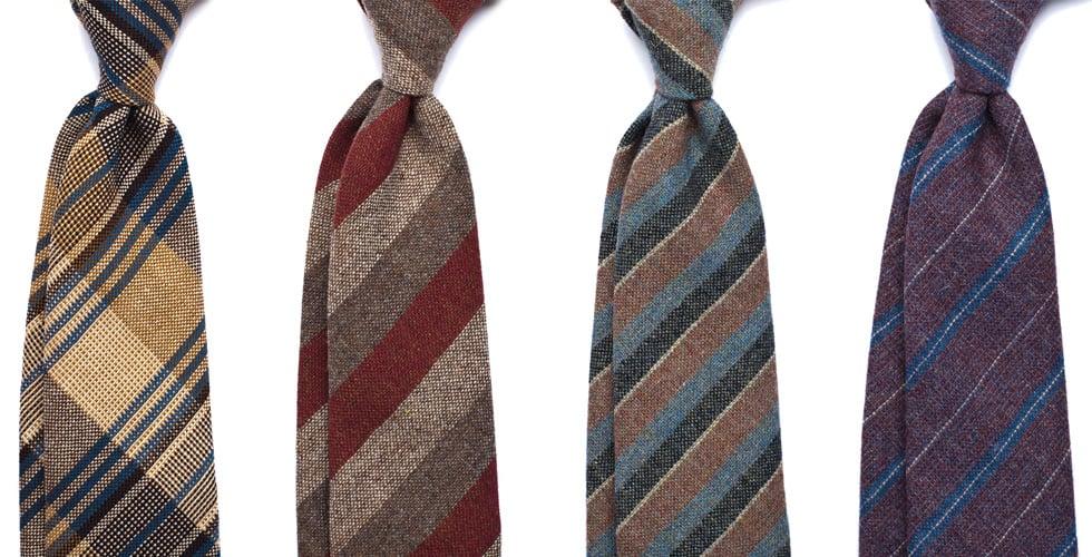 Mycket höstiga slipsar från Berg & Berg.