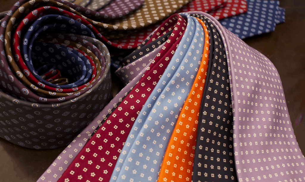 Den här typen av diskret mönstrade slipsar i inte alltför utsvävande färger är Marinellas specialitet. Bilder: E. Marinella