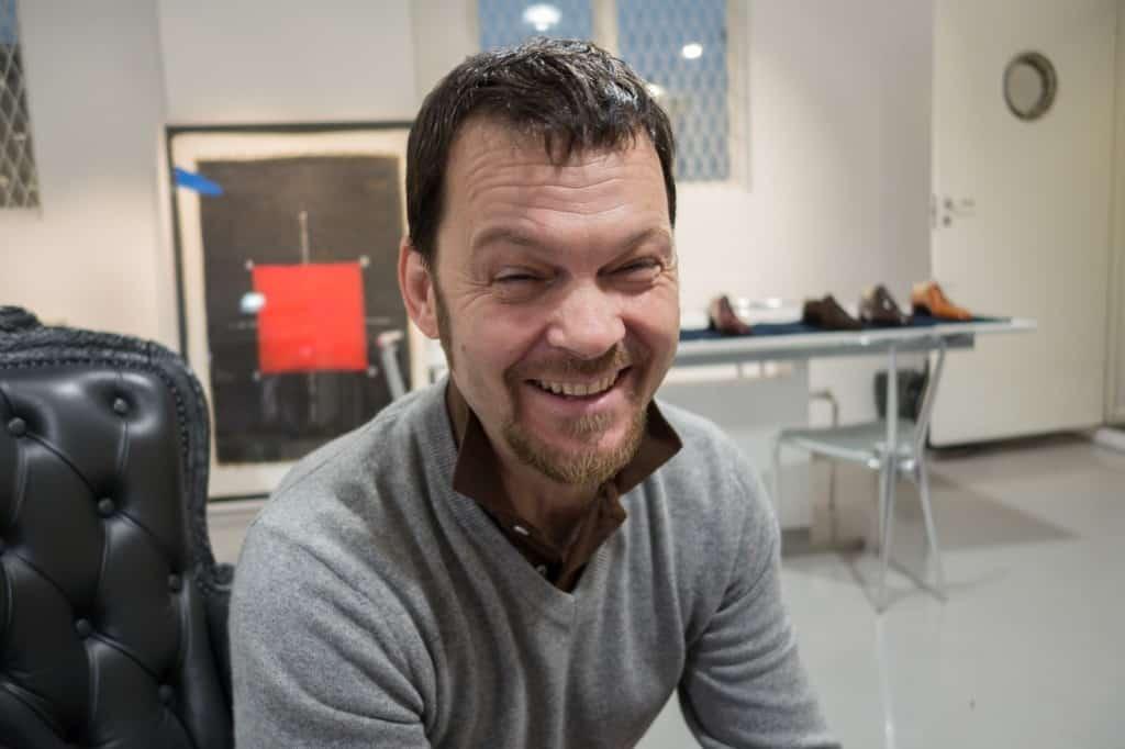En glad Riccardo Bestetti under Sverigebesöket.