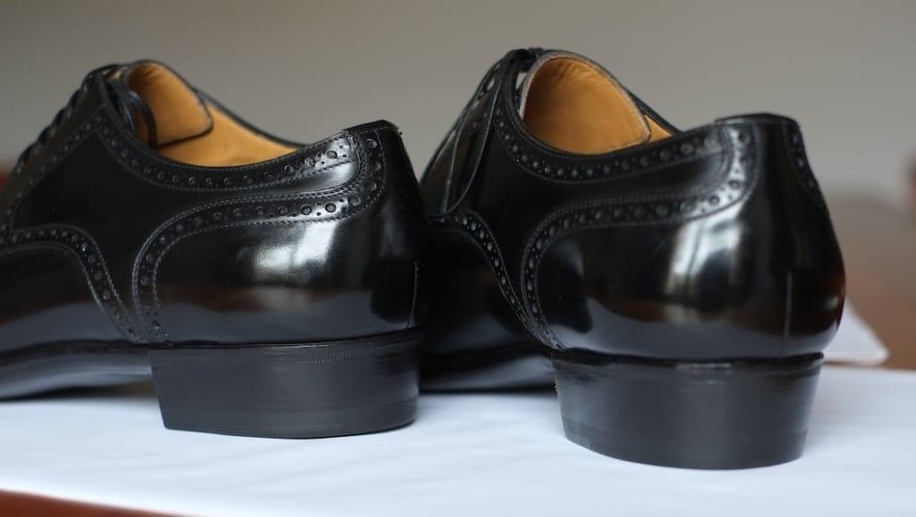 En prototyp till Antonio Meccariellos nya Aurum-linje gjord i svart Freudenberg-läder. (Köpguiden till Meccariello kommer att uppdateras med mer info om Aurum-linjen inom kort. Linjen börjar säljas tidigt i maj.) Bild (även översta): Styleforum