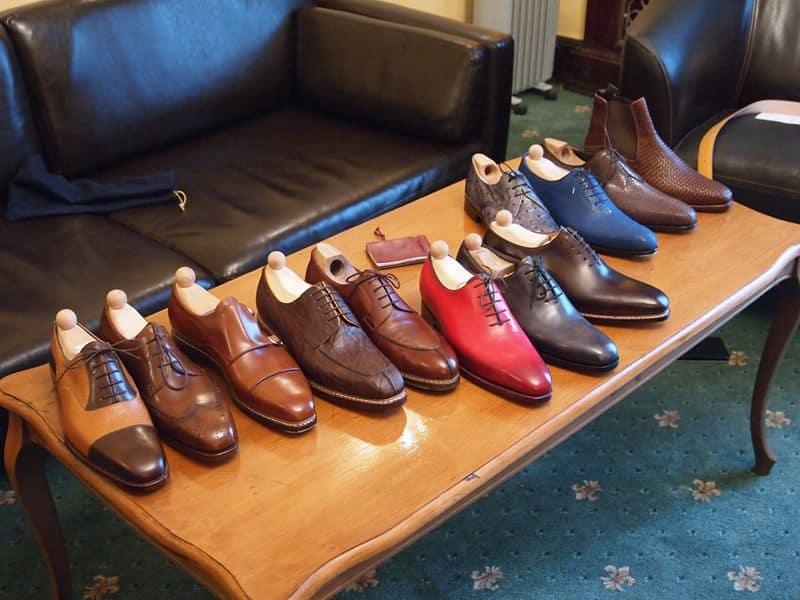 Några skor från Maftei under en trunk show i Moskva nyligen. Bild: Maftei