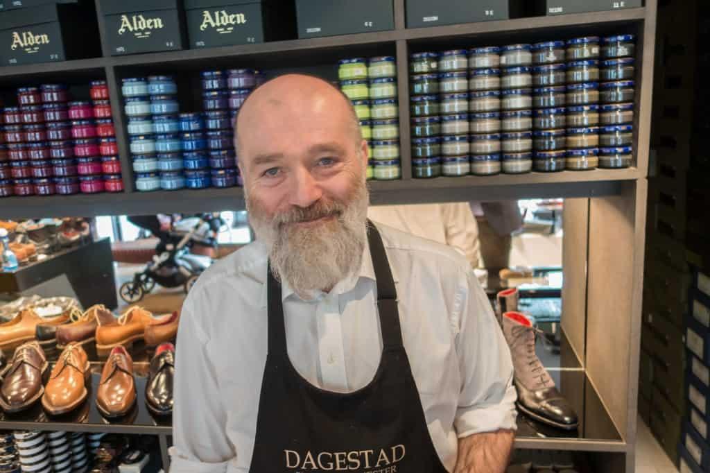 Åsbjörn Dagestad, mannen bakom skomakeriet med hans namn.