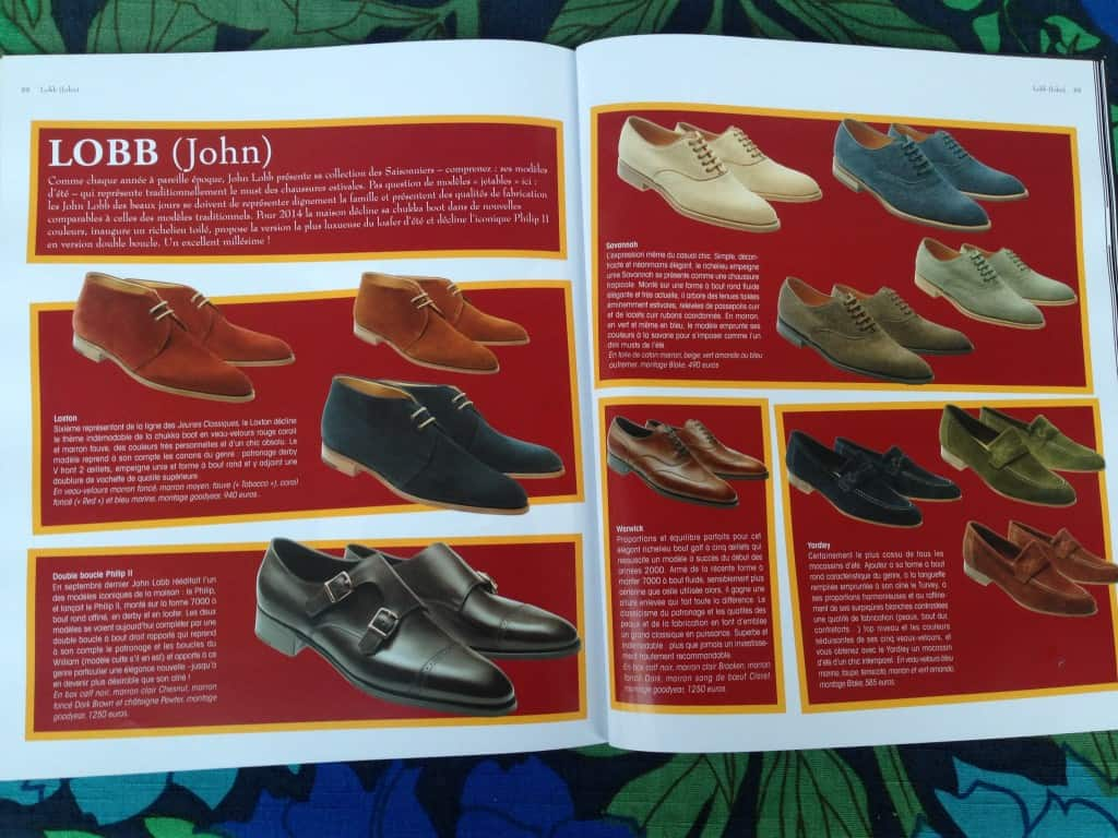 Uppslaget med John Lobb Paris nya modeller...