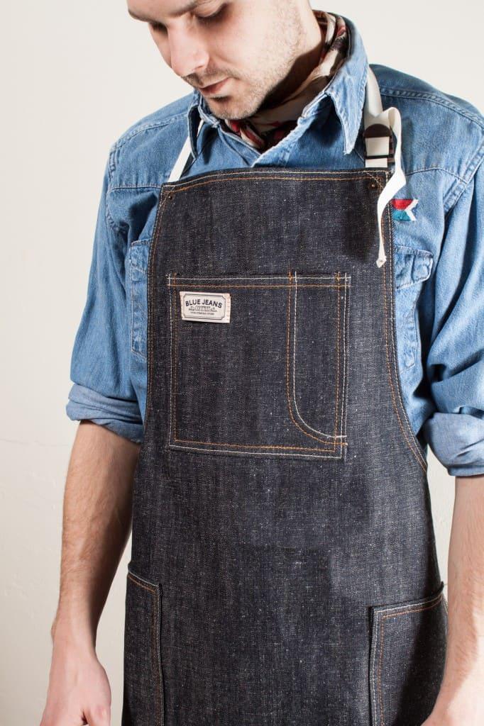 Schysst förkläde i denim från Blue Jeans Company. Bild: Blue Jeans Company