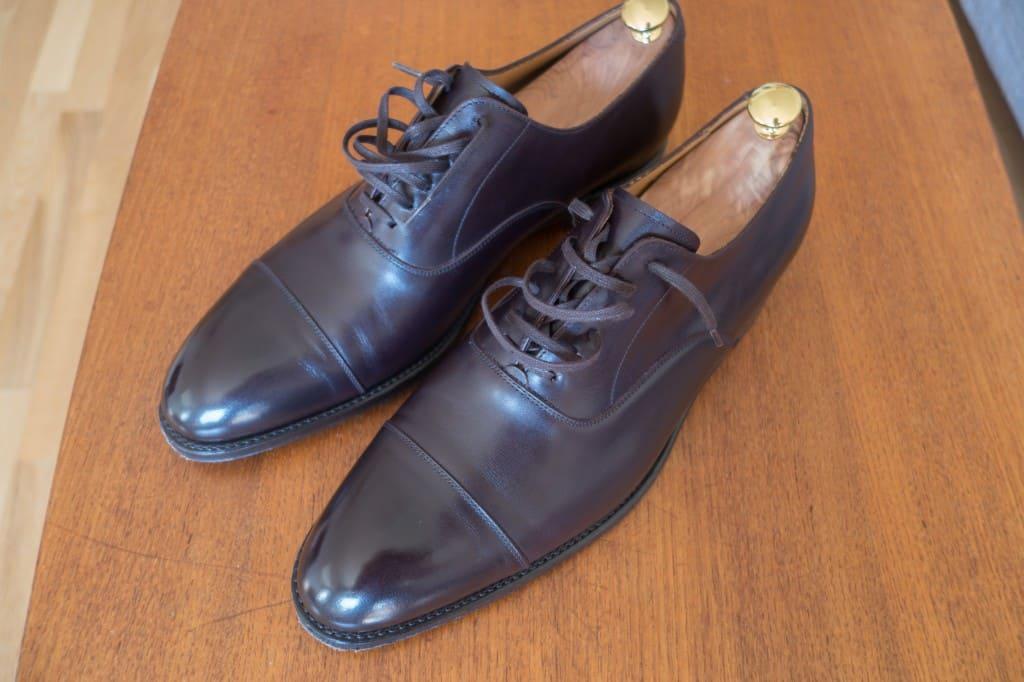Så här ser skorna ut efter ett tiotal användningar.