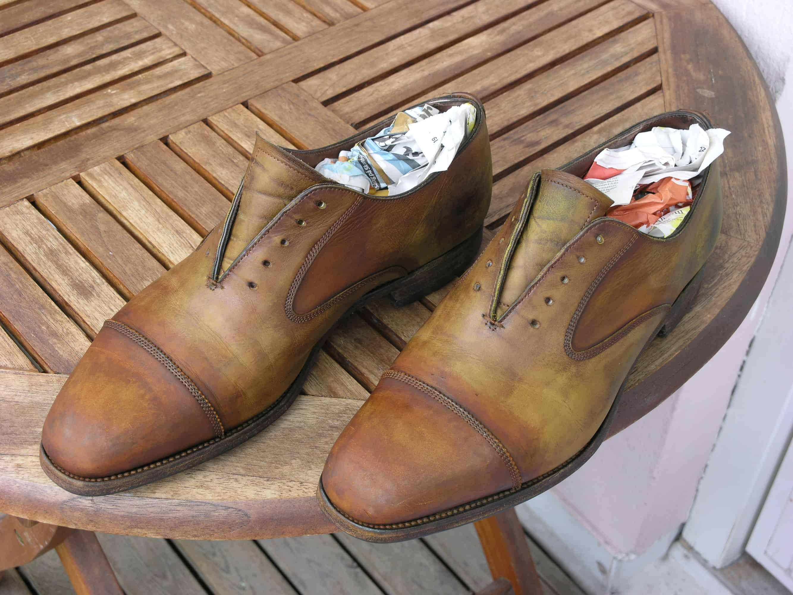 färga mocka skor
