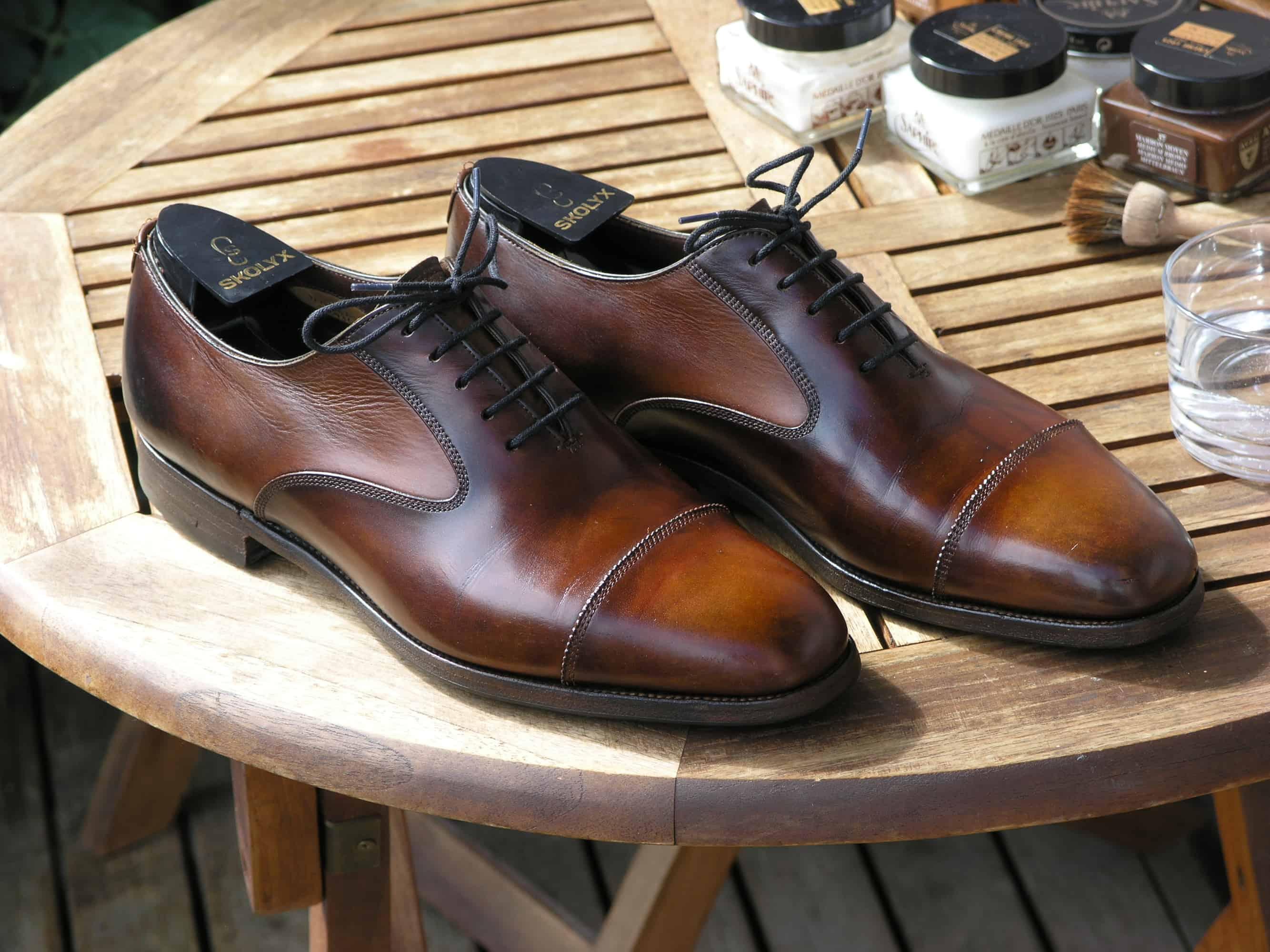 färga läder med skokräm