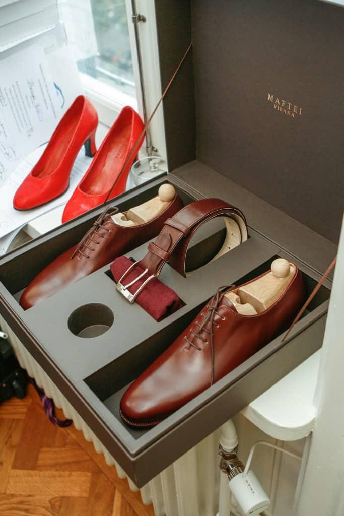 Mafteis nya, handgjorda skolådor som alla som beställde under Shoegazing Super Trunk Show kommer få sina skor levererade i.