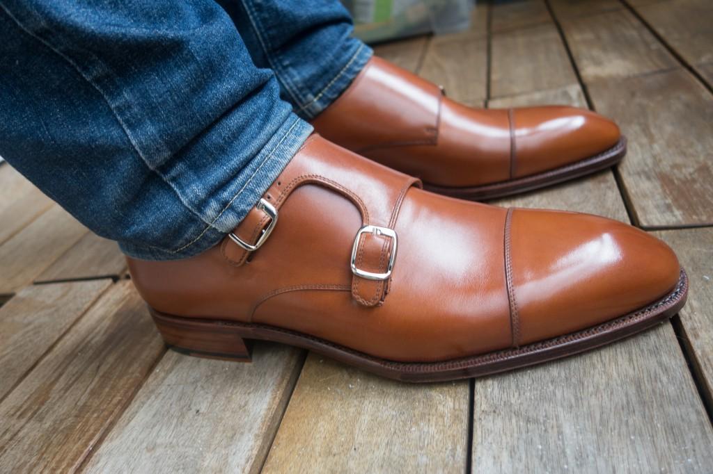 Här skorna på när de var nya.