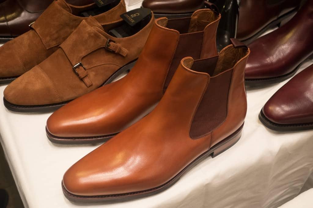 Chelsea boot i tan på lästen 961, som är lite rakare än lästen 915 som är den Skolyx använder till skorna i sitt standardutbud. Storleksmässigt rätt likvärdig dock.