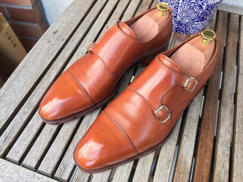 Så här ser skorna ut nu efter cirka 15 användningar.