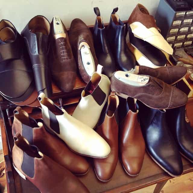 En drös skor under tillverkning.