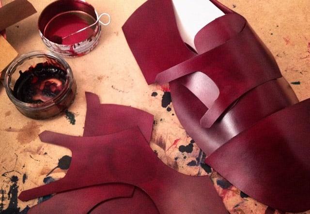 Nymålat crust-läder.