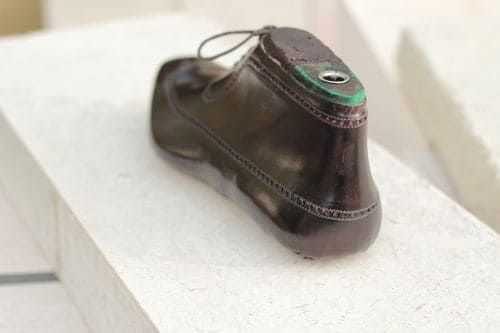 Sömlös wholecut boot av Antonio Meccariello, bed brogue-mönster. Bild: Meccariellos Tumblr
