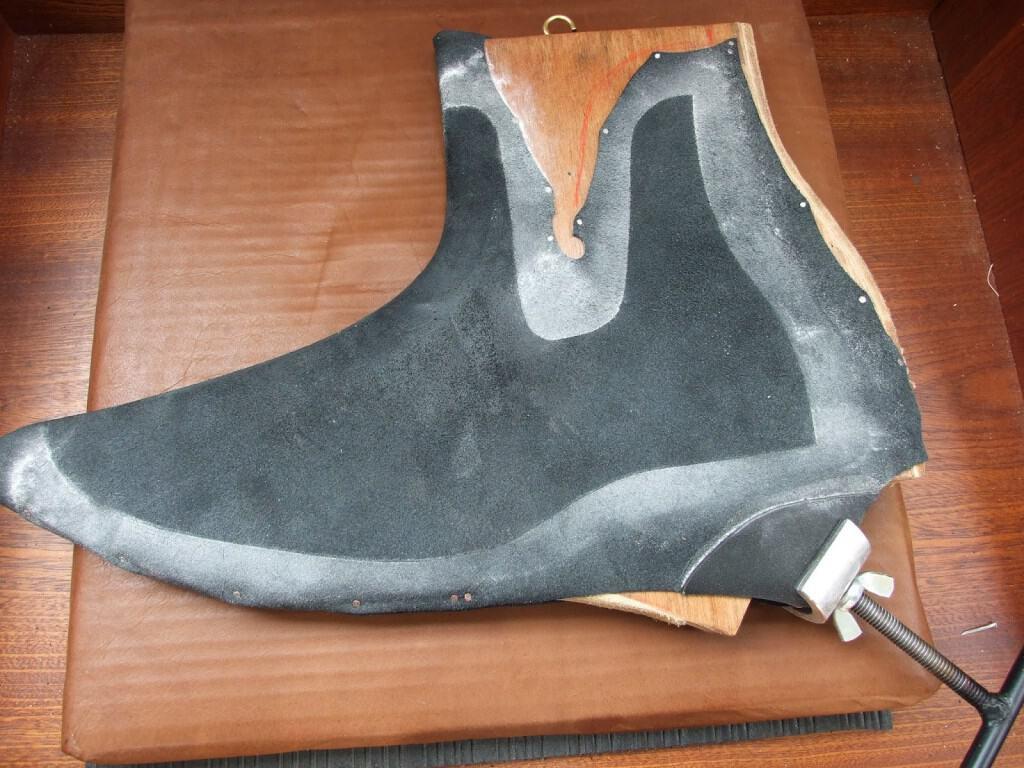 Här ser man en chelsea boot som är blockad, för att underlätta och förbättra slutresultatet.