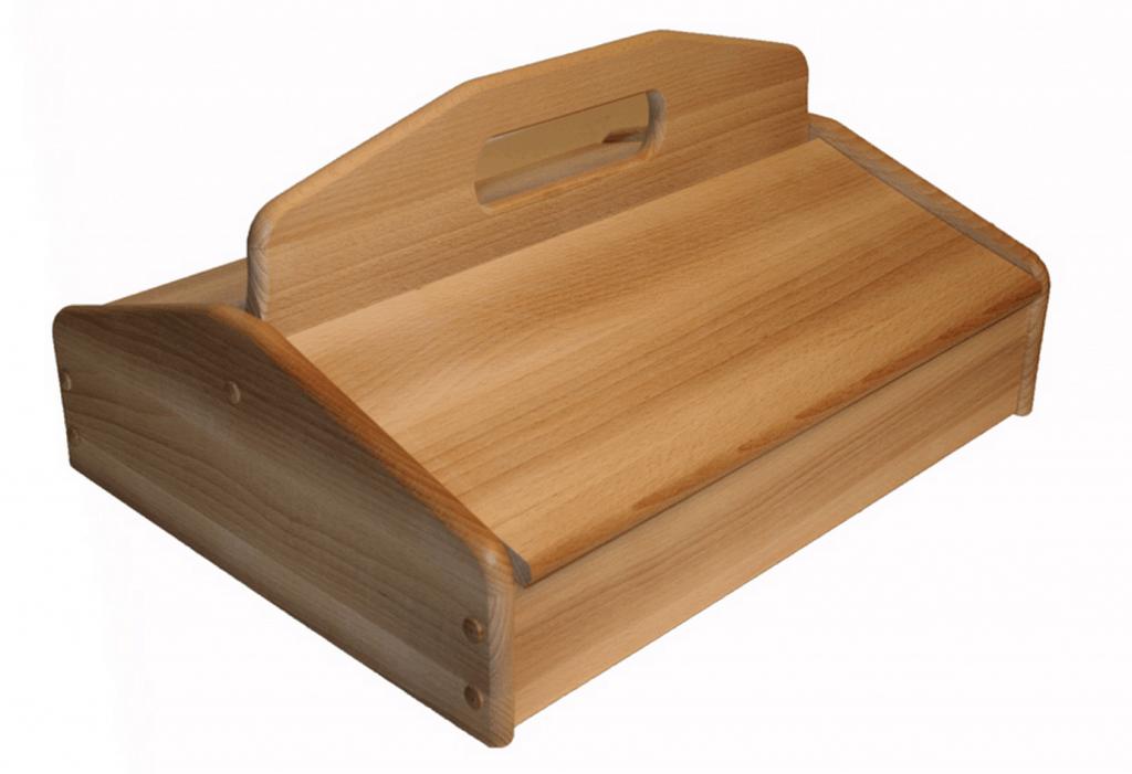 Lite speciellt utformad låda från Shoeboys, som finns hos bland annat Davidsons Skomakeri. Två sidor att förvara produkter på, som i sin tur är indelade i två fack. Kostar 850 kronor.