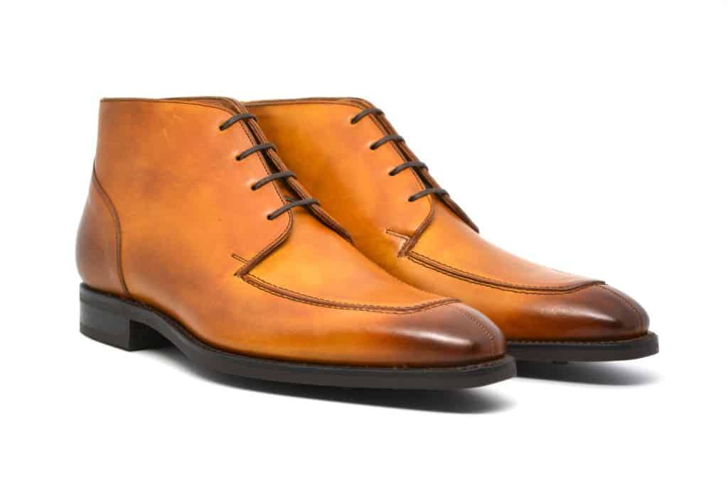 Cobbler Union är en av de nyare aktörerna på kvalitetsskomarknaden, som precis som flera andra gör sina skor i Andres Sendras fabrik i Spanien. Den här split toe-kängan har en enkel Dainite-sula som gör den rätt mångsidig. Bild: Cobbler Union