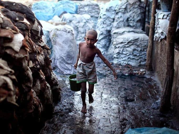 Bild från ett garveri i Bangladesh. Bild: Business Week