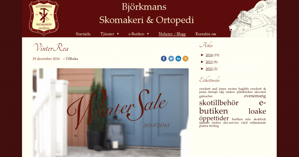 Ludvikabaserade Björkmans Skomakeri har rea på ett antal modeller från Loake.