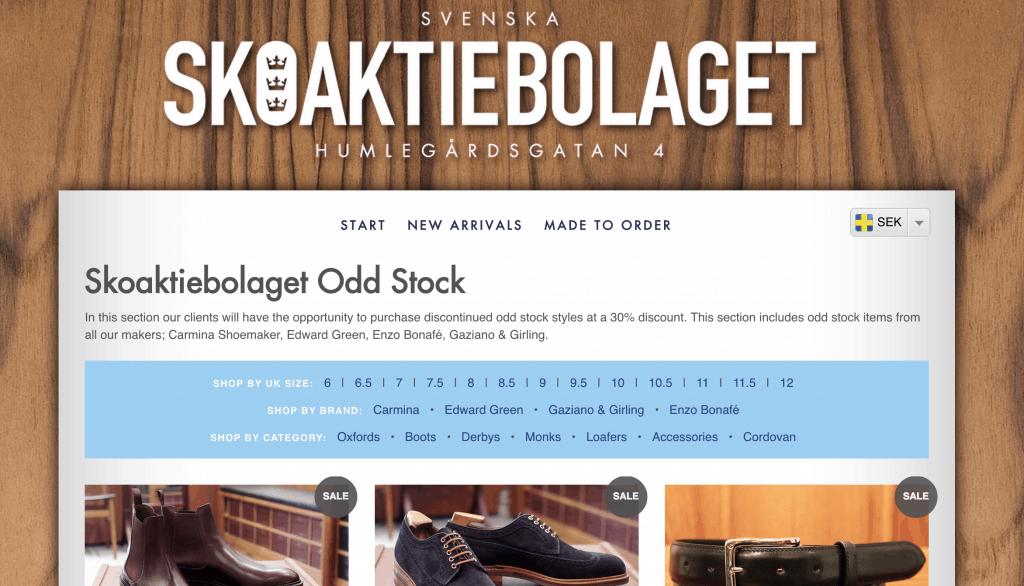 Litet utbud till nedsatt pris hos Skoaktiebolaget, plus en intressant kampanj med Enzo Bonafé.