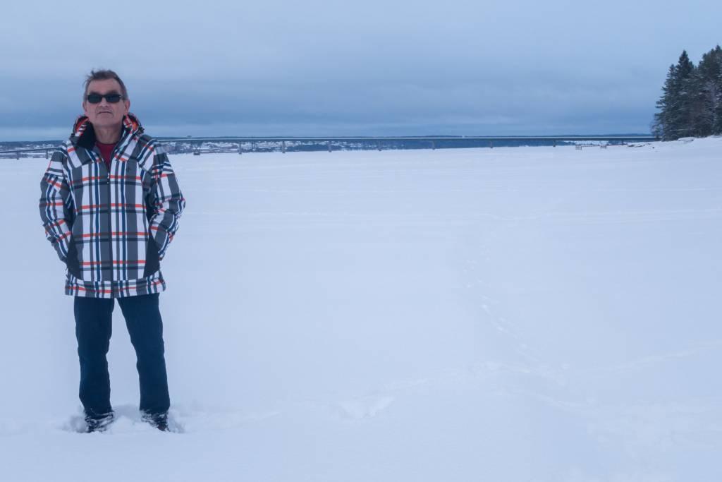 Janne Melkersson ute på Storsjön.