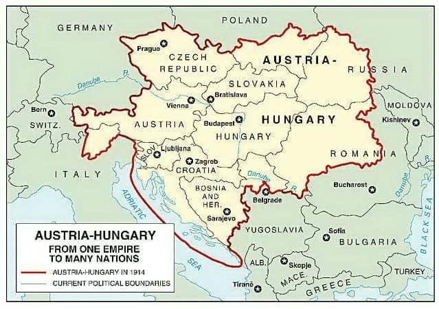 Österrike-Ungerska riket som det var utbrett