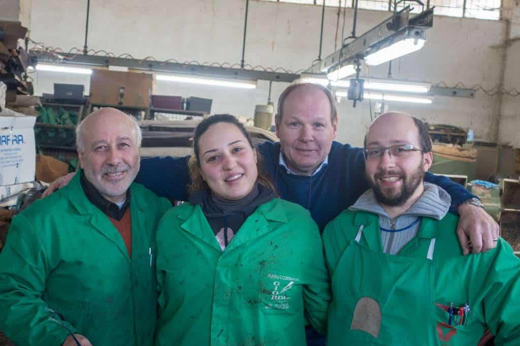 Claudio, Deborah och Giancarlo Marini tillsammans med Magnus Ericson.