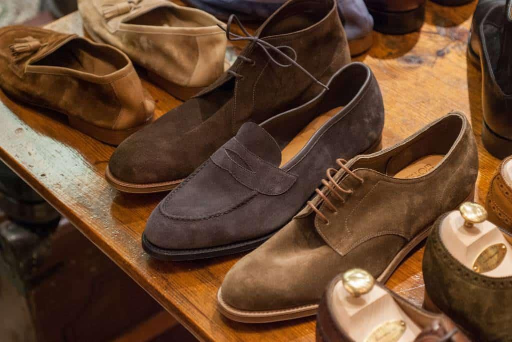 Några mer casual modeller med bland annat en ofodrad loafersen i mitten.