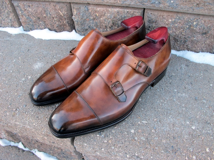 Skon som stod som förebild för patineringen på mina skor.
