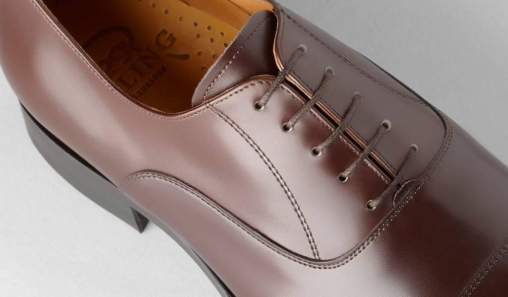 Fint anilinfärgat läder används av Emling. Det här är en sko från standardlinjen.