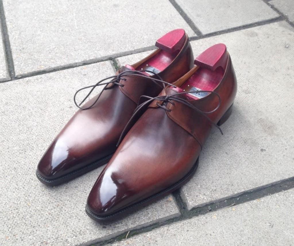 Mina skor ska sedan göras i den här patinan, som kallas Wilde Canyon.