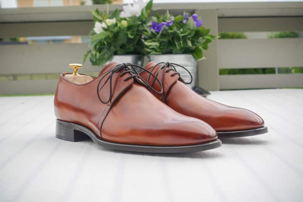 Jag har inte gjort någonting med skorna innan jag tog bilderna, utan de levererades med en ivanligt bra puts.