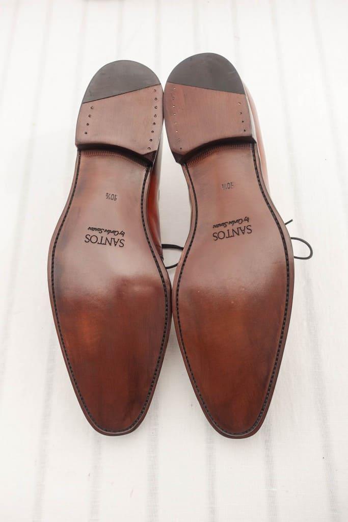 Undersidan på skorna.