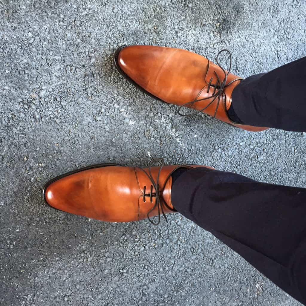 Här en bild på skorna hur de ser ut efter ett antal användningar.
