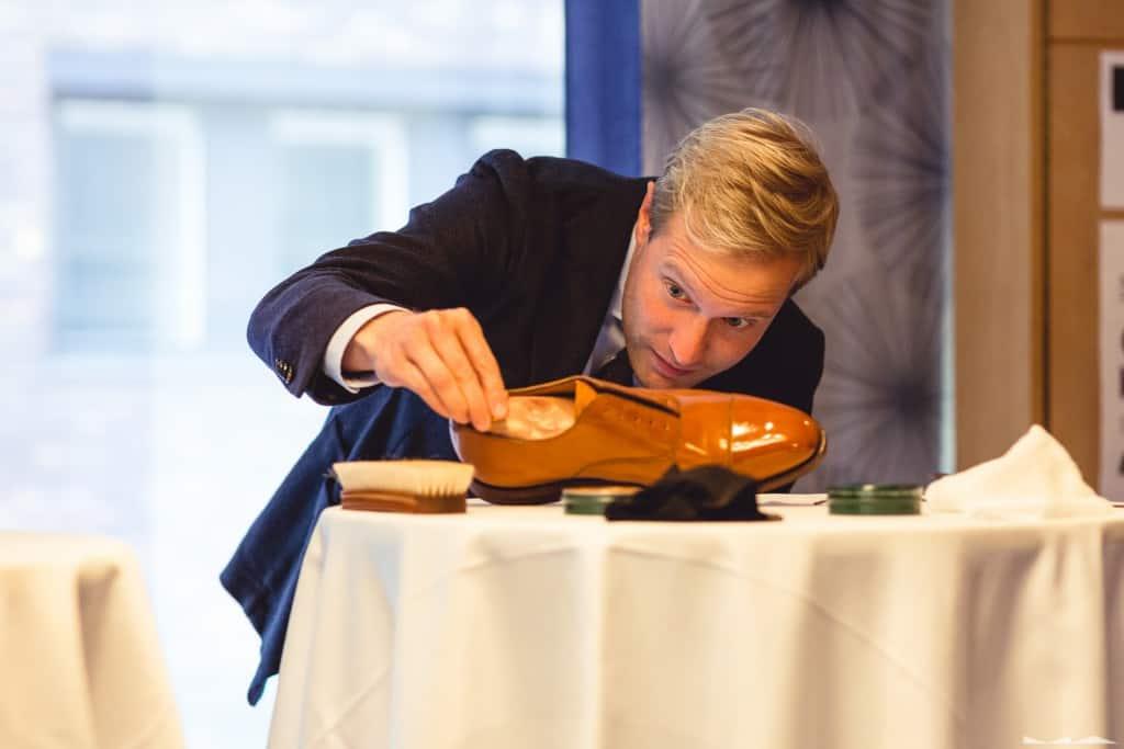 Niclas Andersson från Brunngård som ingick i juryn inspekterade.