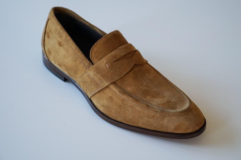 Sample på penny loafern med Bologna-konstruktion.