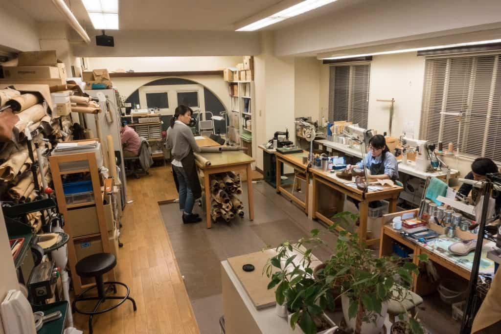 Workshopen som är mycket ren och prydlig.