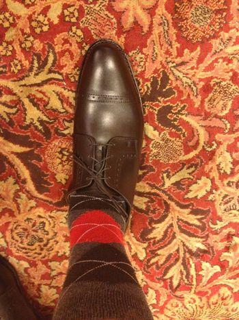 En sko som inte är korrekt åtdragen i snörningen. Bild: StyleForum