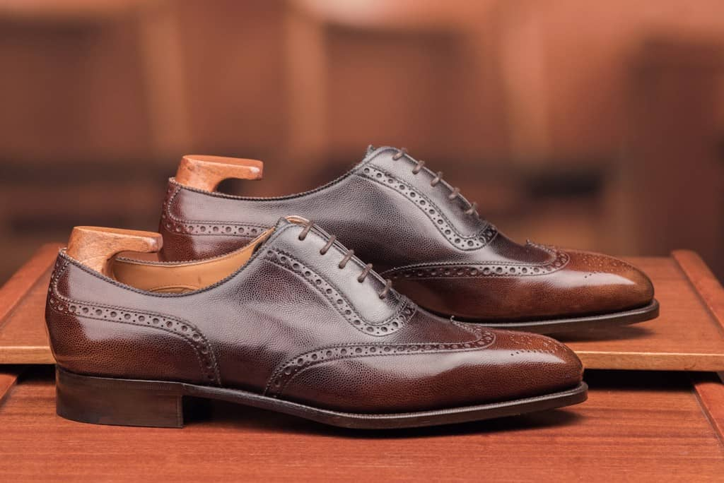 Dandy Shoe Care-målade wingtip adelaiden Plymouth i grain-läder är en godbit som man nu får för 8 375 kronor.