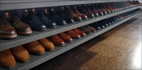 Riktigt så här fint för sina skor har inte de flesta, och det är inte direkt nödvändigt heller. Bild: Die Workwear