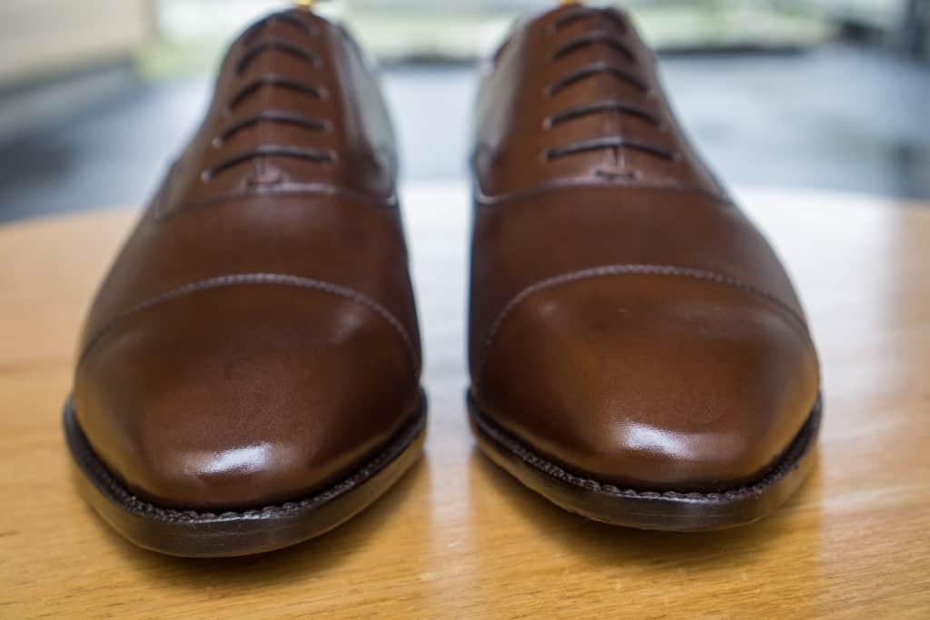 Crownhill-skorna har börjat få lite glans, men det är långt ifrån något märkvärdigt.