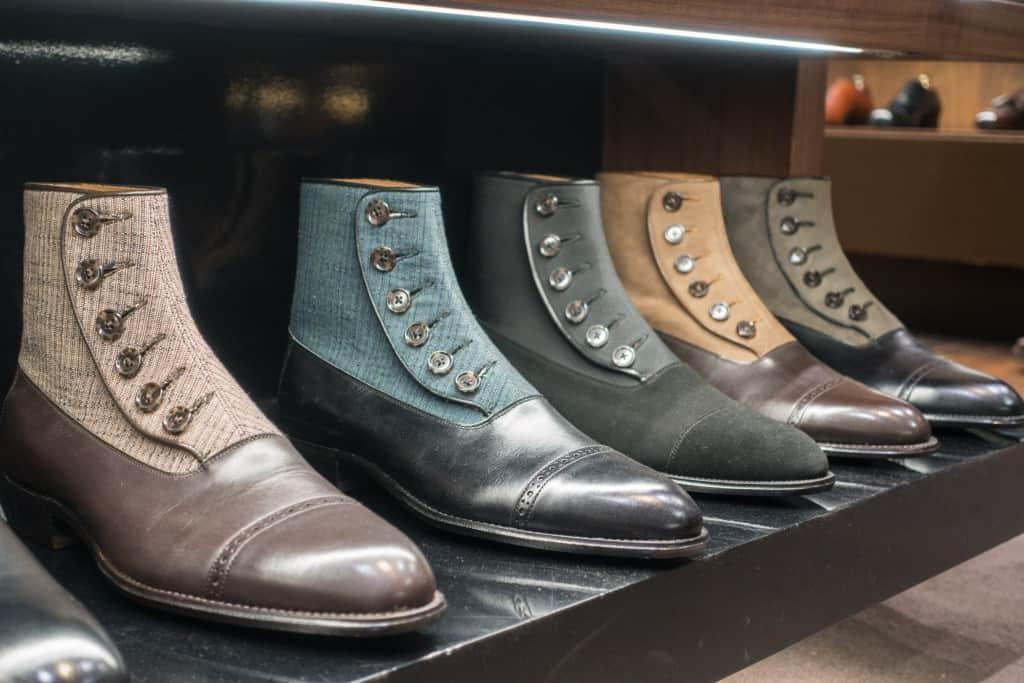Underbara button boots-varianter från japanska (inte italienska) Perfetto.