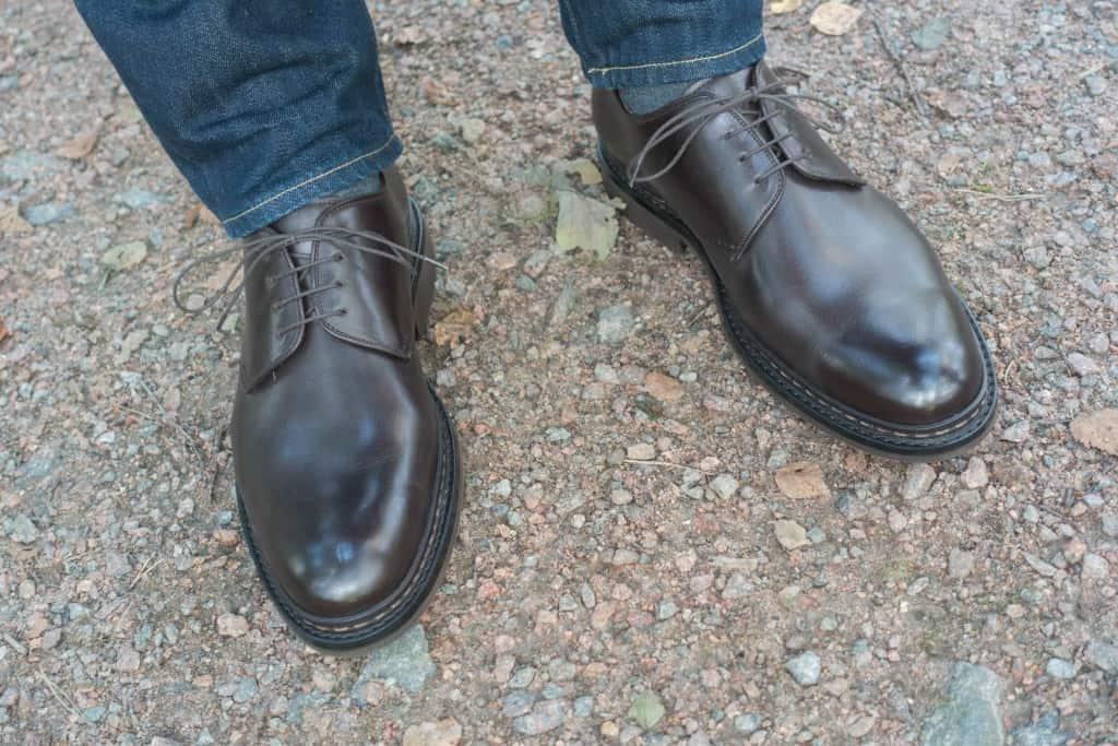 Trots att det är en grov sko är den alltså mjuk och bekväm direkt.