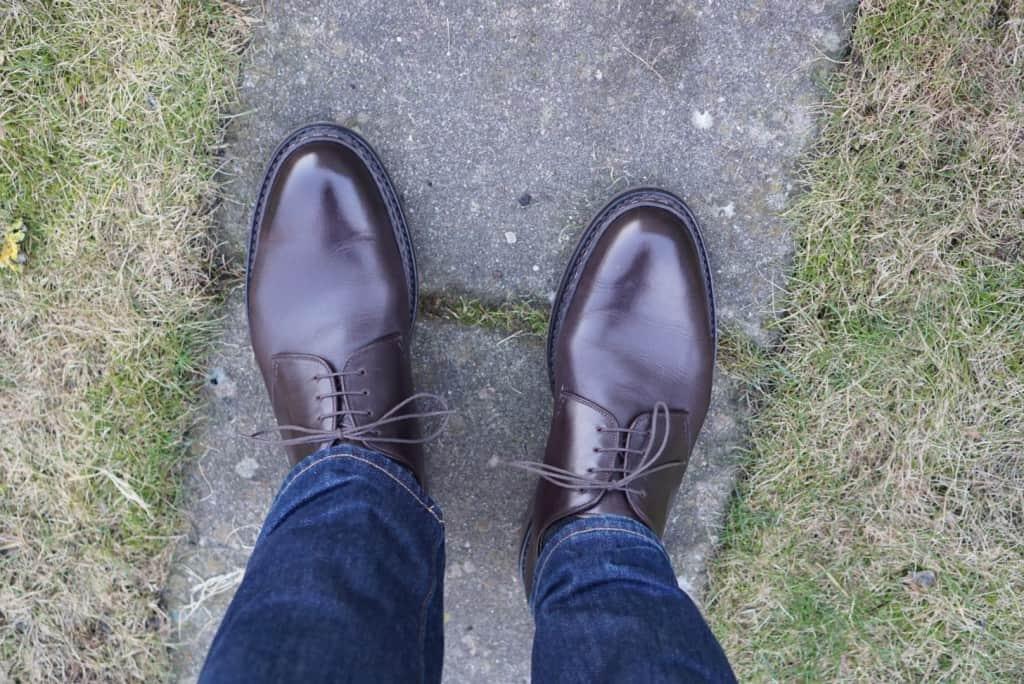 Så här ser skorna ut efter ett antal användningar.