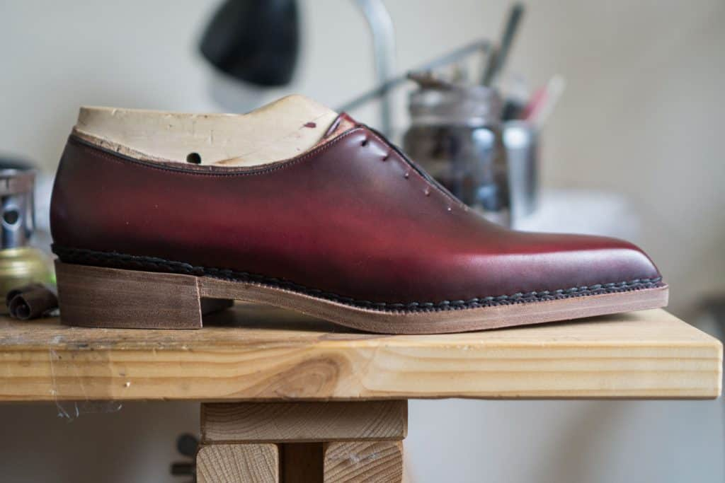 Mycket läcker sko som ska vara visningsex, sömlös wholecut med norvegese-konstruktion på en extremt mejslad läst.