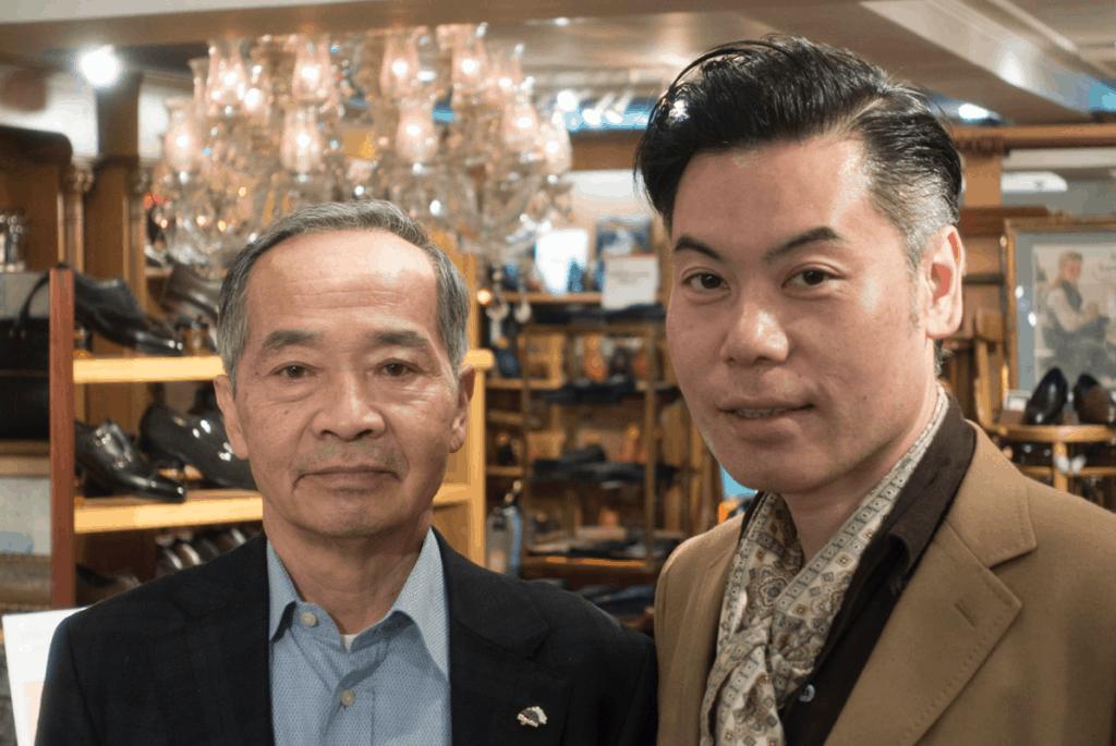 Till vänster Keiichi Fukada, grundare och ägare, till höger Ryosuke Hidaka, chef över WFG:s butiker.