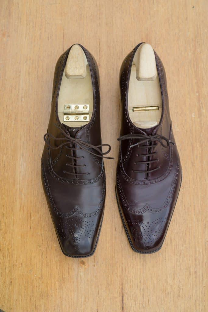 Från denna vinkel varar är mer olika. Markis till höger har en längre och bredare tå, medan Fukuda: s är mer vinklade inåt lite mer smal tå. De kan kanske vara ett par millimeter längre IMO, men totalt jag föredrar formen på Yohei skor.
